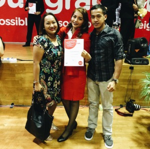 Manang Kira and Mark flew to Malaysia for my graduation day!